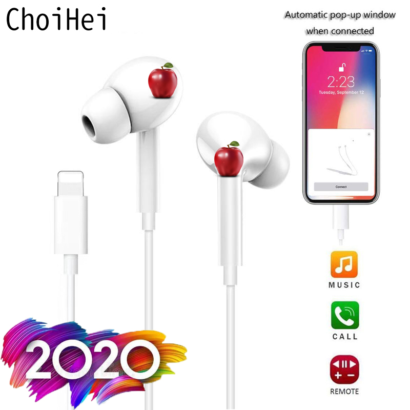 For Apple Iphone 7 8 6 Plus In Ear Stereo Earphones With Microphone Wired Bluetooth Earphone For Iphone 11 X Xr Xs Max Headsets Bluetooth Earphones Headphones Aliexpress