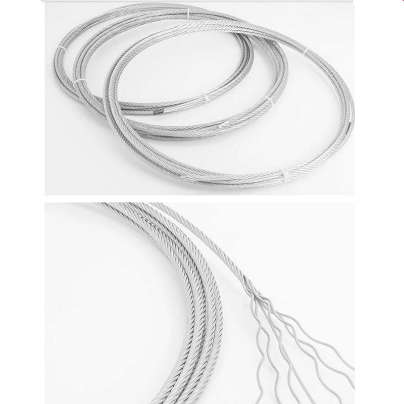 Color : 7X19 Structure, Size : 10M TYUIOP Super Flexible Soft 7x19 Structure 133 Strands Stainless Steel 304 Wire Rope Cable 1.5-20MM Diameter