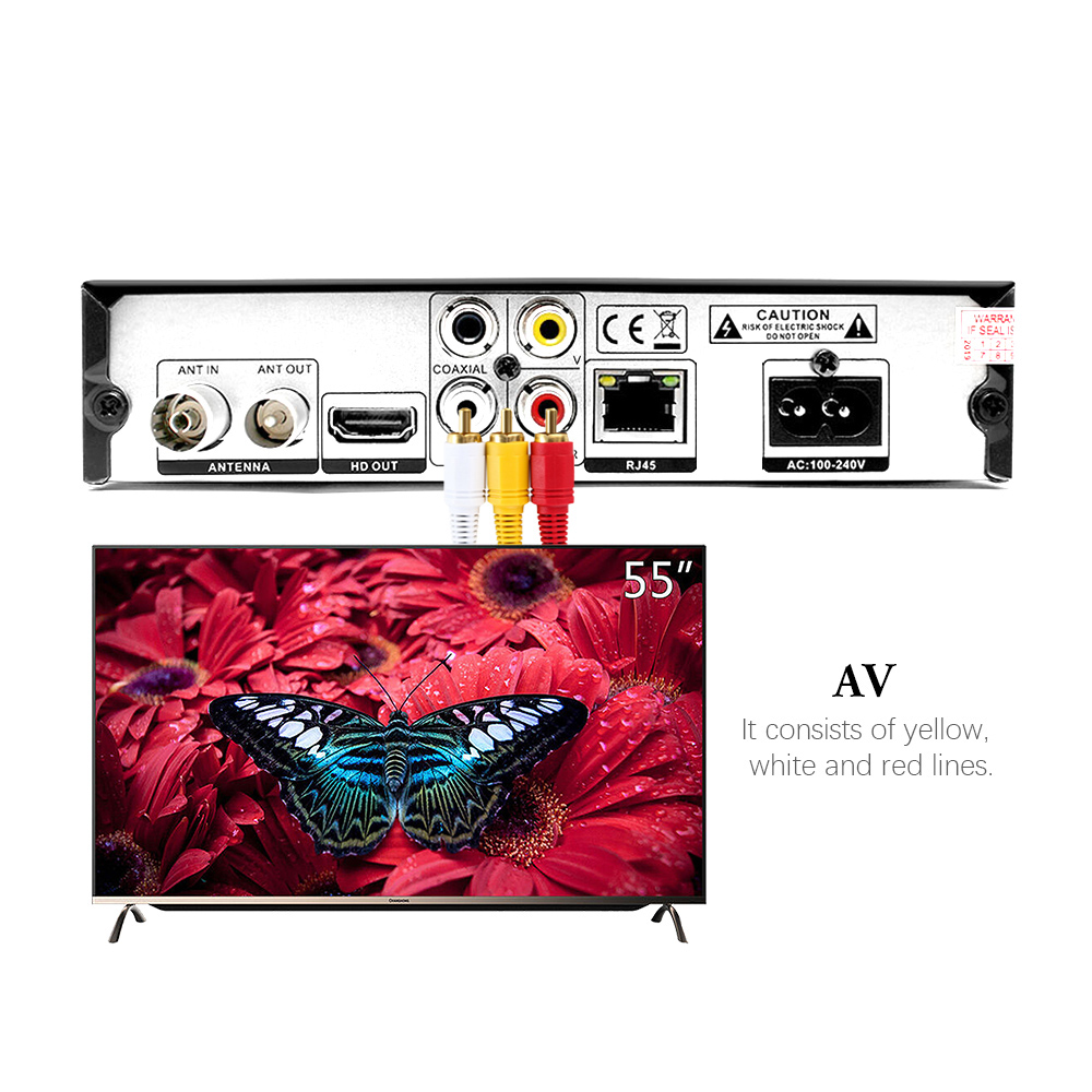 Image 5 - Vmade DVB T2 DVB T HD 1080P Digital Terrestrial Receiver H.265/HEVC TV Tuner Support RJ45 Dolby AC3 Youtube TV Set Top Box-in Satellite TV Receiver from Consumer Electronics