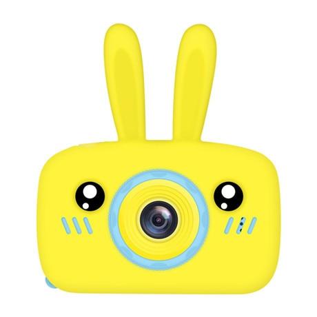 Мультяшная цифровая камера, детские игрушки, креативная развивающая игрушка для детей, аксессуары для обучения фотографии, подарки на день рождения, детские товары - Цвет: Yellow bunny