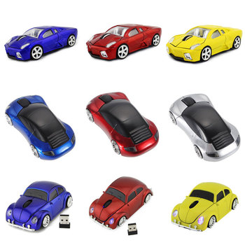 2.4G Wireless Car Mouse Lamborghini/Beetle/Porsche/Ferrari Race Car Shaped Mouse Optical Mouse for PC Desktop Laptop image