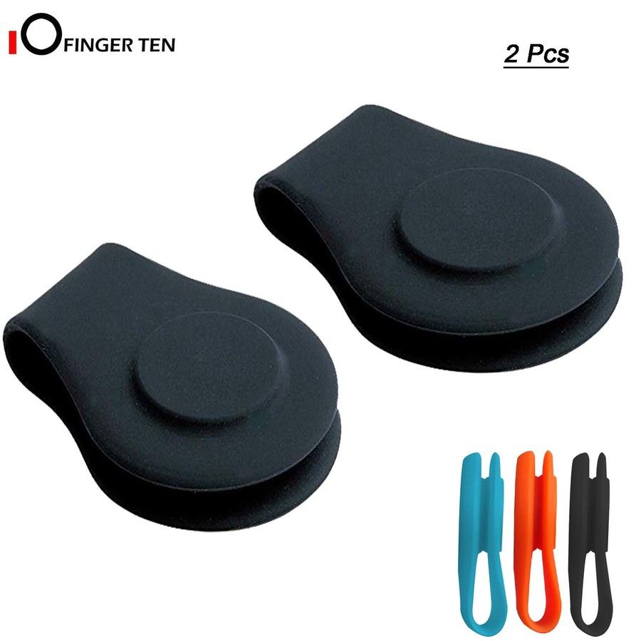 2 Pcs Golf Hat Clip Silicone Magnetic Ball Marker Holder Attach To Your Cap Pocket Edge Belt Clothes Gift