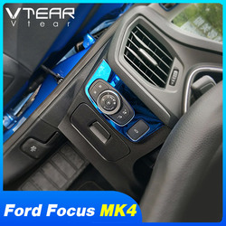 Vtear For Ford Focus MK4 headlights switch cover Chromium Styling Interior Mouldings car-styling Exterior Parts Accessories Auto