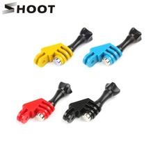 Shoot suporte adaptador de arco cotovelo, acessório de 90 graus para go pro hero 8 7 5 sjcam sj4000 yi go pro com parafuso de polegar kit