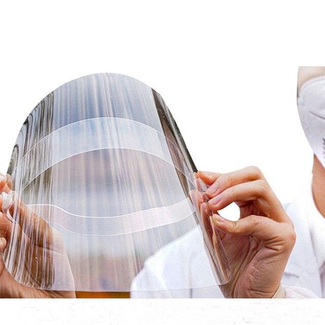Transparent Adjustable Full Face Shield Plastic anti-epidemic anti-fog safety Mask Flip-up Visor Medical Work Guard 3