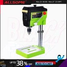 Allsome miniq mini imprensa de perfuração 220v 680w máquina de trituração elétrica velocidade variável máquina broca moedor para diy ferramentas elétricas bg