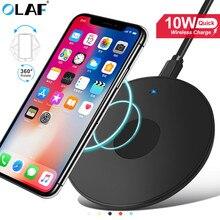 10 Вт Qi быстрая Беспроводная зарядка для Iphone 11 Pro X Xs Max XR для samsung S8 S9 S10 Plus Note 10 9 зарядная площадка Беспроводное зарядное устройство