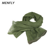 MENFLY Outdoor Pure Color Hunting Clothing Accessories Large Mesh Towel Military Fan Multi-purpose Camouflage Scarf Square Towel ofm kmt42sq chy square multi purpose table metal mesh base 42 cherry