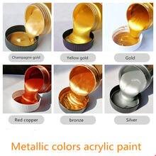 100/300ml Gold Farbe Metallic acryl farbe, wasserdicht nicht verblasst für Statuen Färbung DIY hand gemalt graffiti Lack Beschichtung