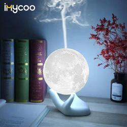 Прямая поставка 880 мл USB Ультразвуковой Арома увлажнитель воздуха с 3D лунной лампой светильник Арома эфирное масло диффузор воздуха туман д...
