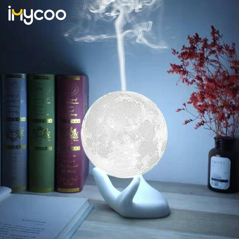 Humidificador de aire por Aroma ultrasónico USB, lámpara de Luna 3D, difusor de aceites esenciales para dormitorio, 880ml|Humidificadores|   - AliExpress