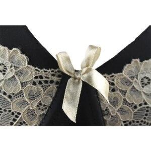 Image 4 - Xiaoersidai negro Sujetador de encaje para mujer, Bralette cómodo, de alta calidad, de belleza, 36 a 46 C D DD DDD F
