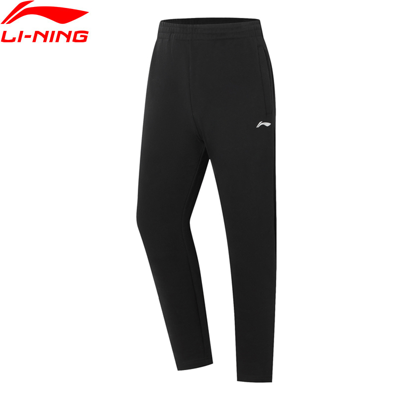 Li-Ning Men Badminton Series Sweat Pants Pockets Comfort LiNing Li Ning Elastic Waist Sports Pants AKLP733 MKY544