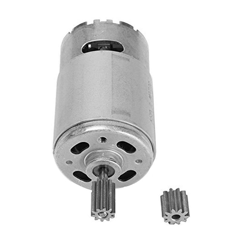 Motor 12v 30000 rpm da c.c. para o carro bonde das crianças, passeio de rc, motor bonde rs550 da caixa de engrenagens do carro do bebê 10 dentes do motor