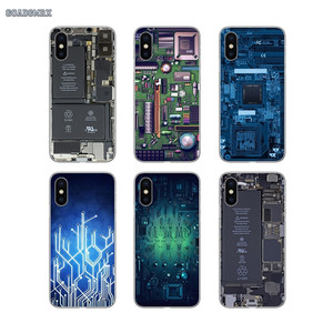 Soft Transparent Shell Covers Online Designs Circuit Board For Xiaomi Mi A1 A2 A3 9 SE 9t Lite Redmi 7A Note 4X 5 8 Pro(China)