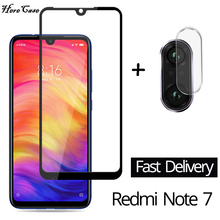 2-in-1 Camera Glass Redmi Note 7 Tempered Screen Protector  for Xiaomi Film redmi note screen protect