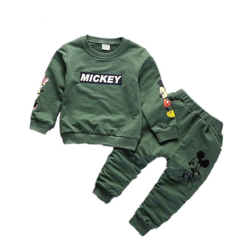 New Spring Autumn Children Clothing Boys Cartoon Casual Sports T-shirt Pants 2pcs/Set Infant Outfit Kids Clothes Suit Tracksuits