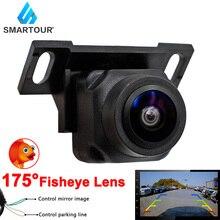 Smartour HD عدسة عين السمكة للرؤية الليلية سيارة الرؤية الخلفية عكس الكاميرا لمراقبة السيارة أو أندرويد DVD 175 درجة 1080P عين السمكة