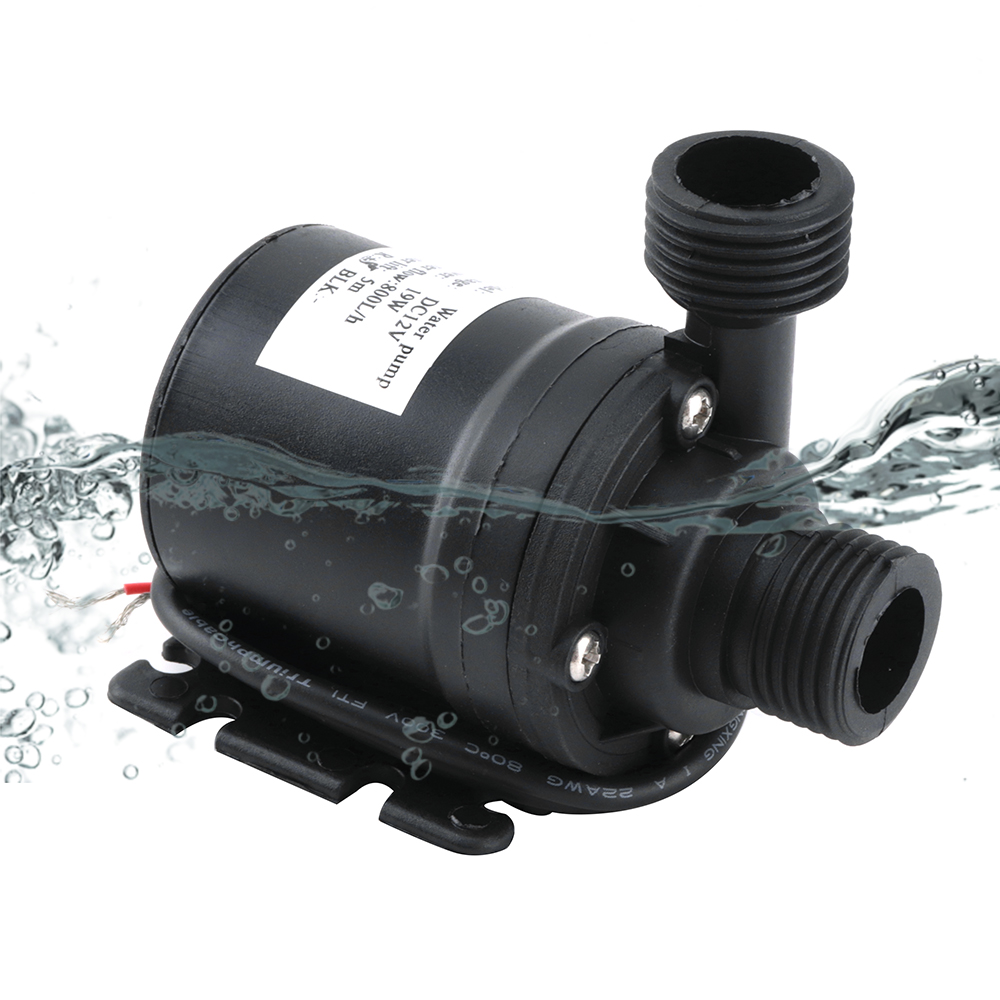 BORUiT Ultra Quiet Mini Submersible Water Pump 5M 800L/H DC12V Home Garden ilter Fish Pond Aquarium Water Fountain Pump Tank