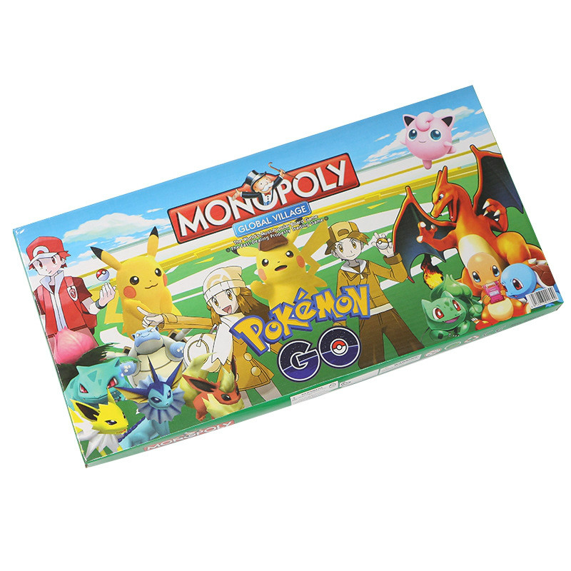 Pokemon Monopoly Party Board Card Games Game Board Game Real Estate Trading Game Toys