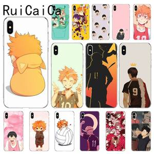 RuiCaiCa Haikyuu Hinata Anime Volleyball Coque Shell Phone Case for iPhone 8 7 6 6S Plus X XS MAX 5 5S SE XR 11 11pro promax(China)