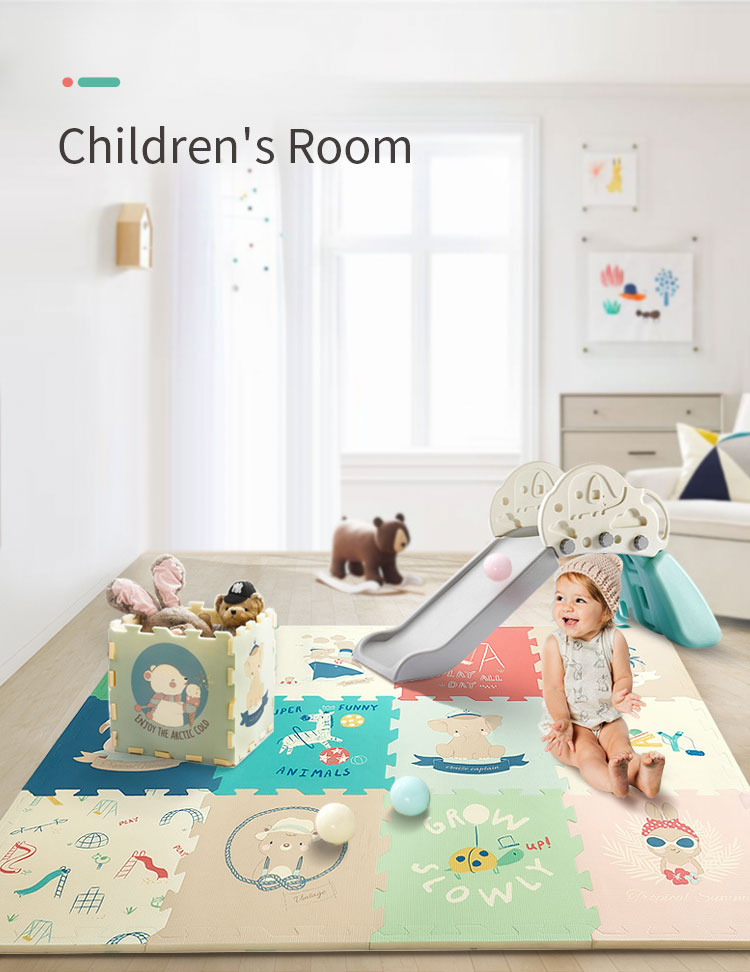 H170299cae29e48a693f003e4d680b44bC BabyGo PE Foam Play Mat Baby Thickened Tasteless Crawling Pad Children Kids Living Room Cartoon Non-Slip Play Game Floor Mat