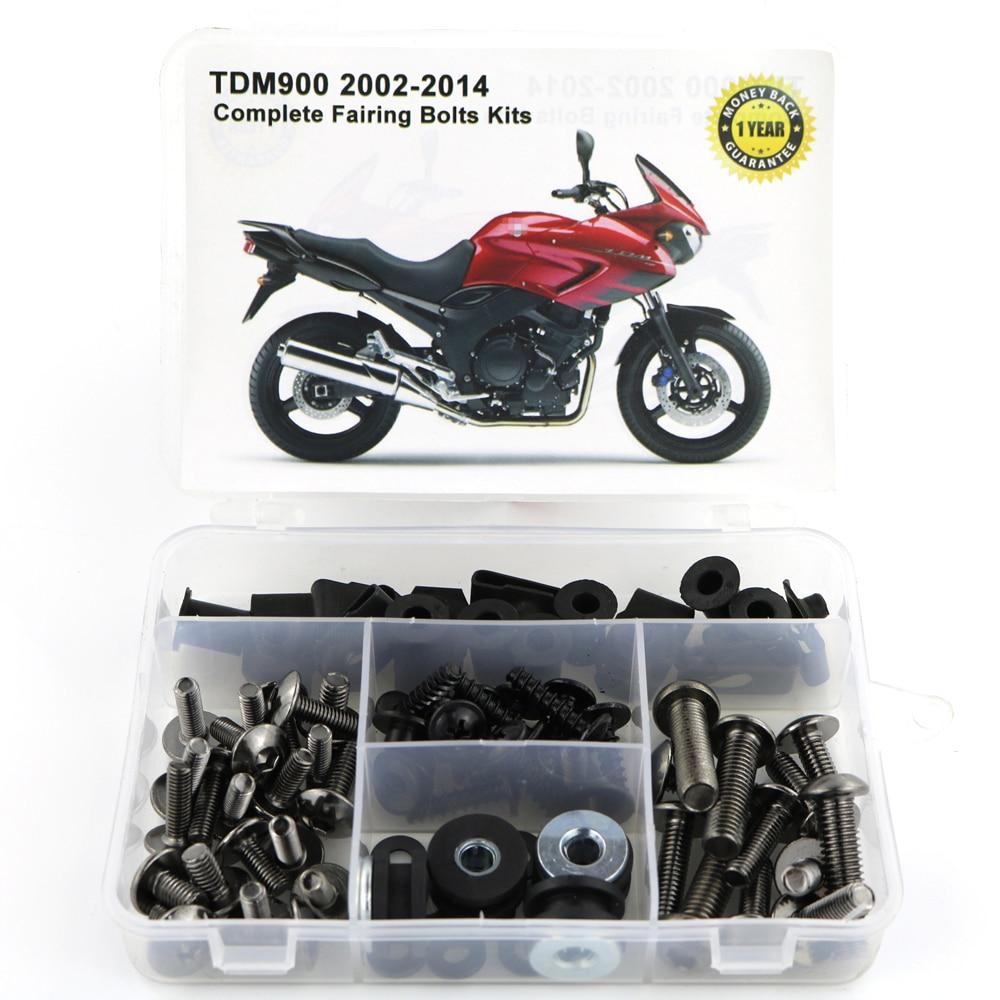 Для Yamaha TDM900 TDM 900 2002- мотоцикл сталь Полный Обтекатель Болты комплект обтекатель зажимы тела винты гайки OEM стиль - Цвет: Titanium