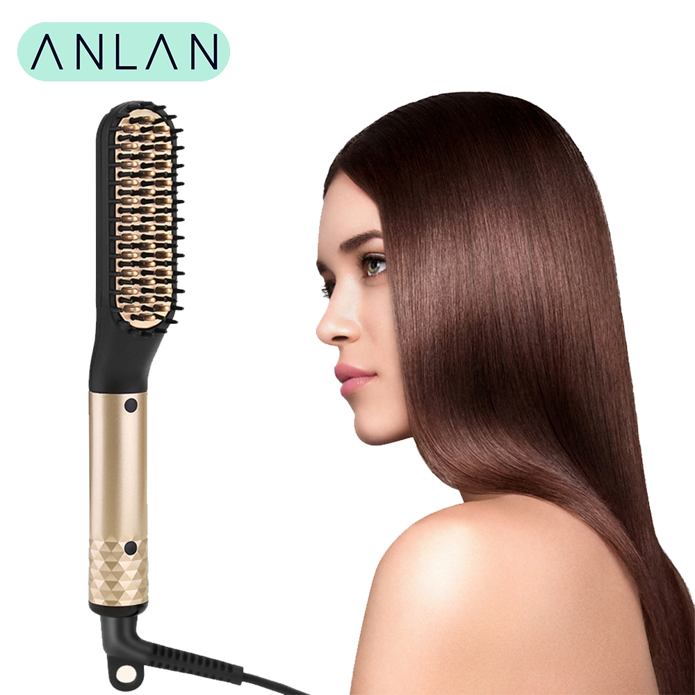 Hair Straightener Comb Durable Electric Straight Hair Comb Brush LCD Heated Ceramic Hair Straightening Brush Electric brush-in Straightening Irons from Home Appliances