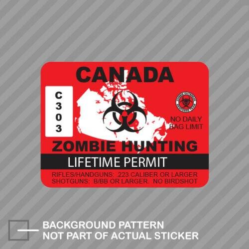 Vinyl Sticker Waterproof Decal GT Graphics Zombie Hockey