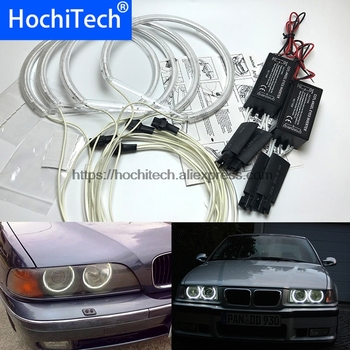 HochiTech For BMW E36 E38 E39 E46 3 5 7 Series Xenon Headlight car styling CCFL Angel Demon Eyes Kit Warm White Halo Ring image