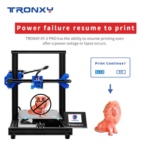 Image 4 - TRONXY 3D Printer XY 2 PRO 3D Printer Large Size I3 255*255 Hotbed V slot Resume Power Failure Printing FDM printing 3D Drucker