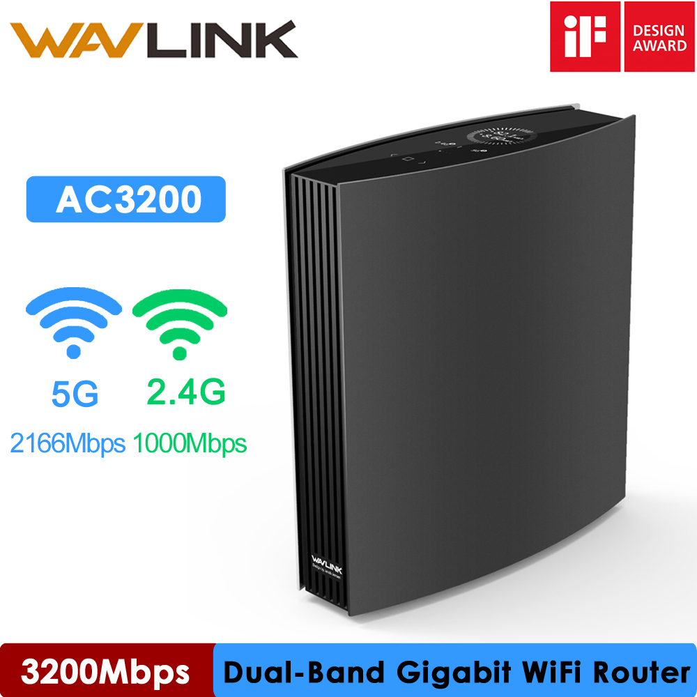 Wavlink Gigabit WIFI Router Wave2 MU-MIMO AC3200 Wi-Fi Router 2.4G 5GHz WIFI Extender Wifi Repeater iF Design Award Winner image