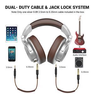 Image 2 - Oneodio A71 Professionelle DJ Kopfhörer Tragbare Verstellbare Wired Headset Musik Teilen Lock Kopfhörer Für Aufnahme Monitor