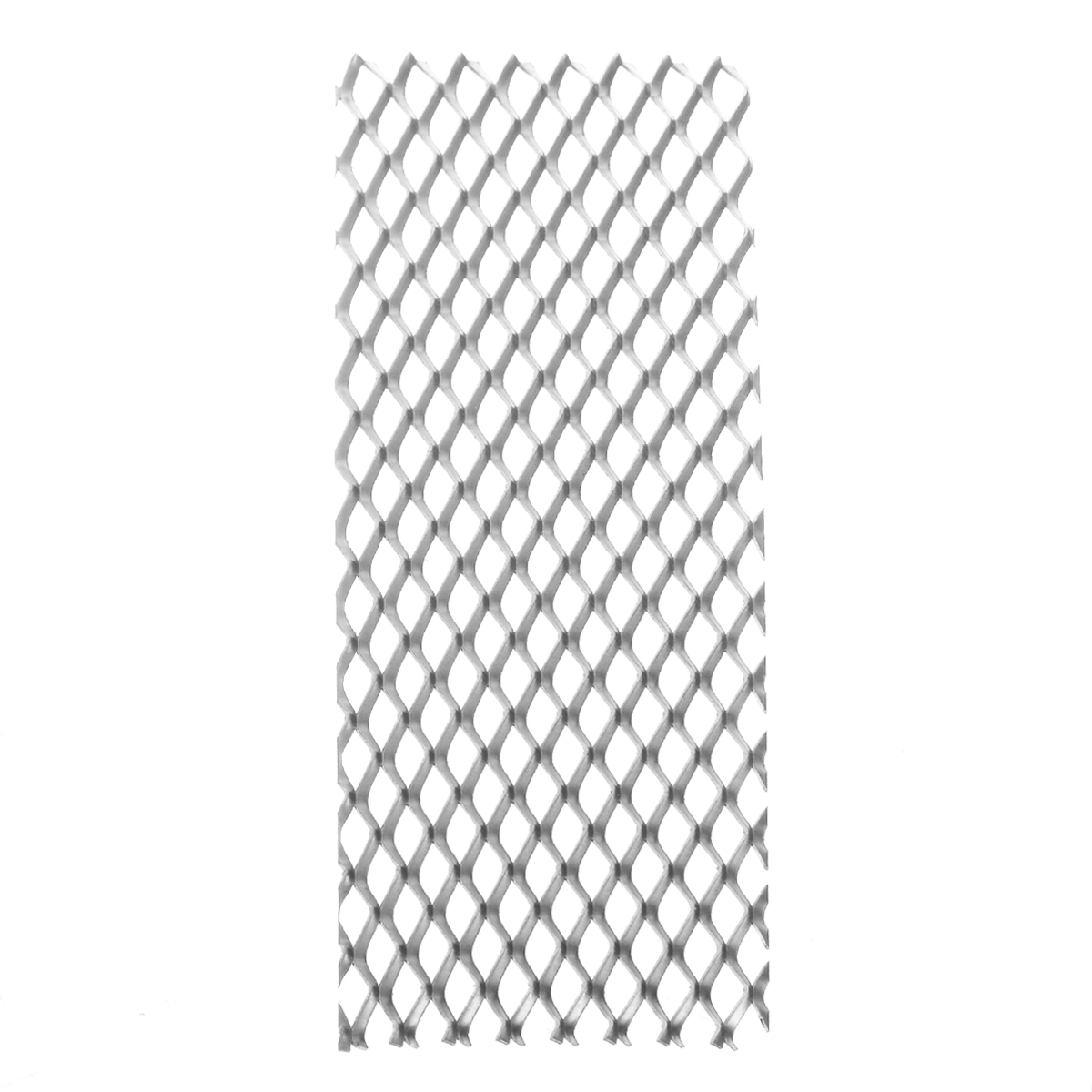 1pc Durable Titanium Mesh Sheet Heat Corrosion Resistance Silver Perforated Expanded Plate 50mm*165mm For Electrolysis
