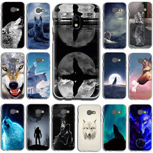 White Wolf Art Hard Phone Cover Case for Samsung GaLaxy J6 J7 J1 J2 J3 J5 2015 2016 2017 Prime(China)