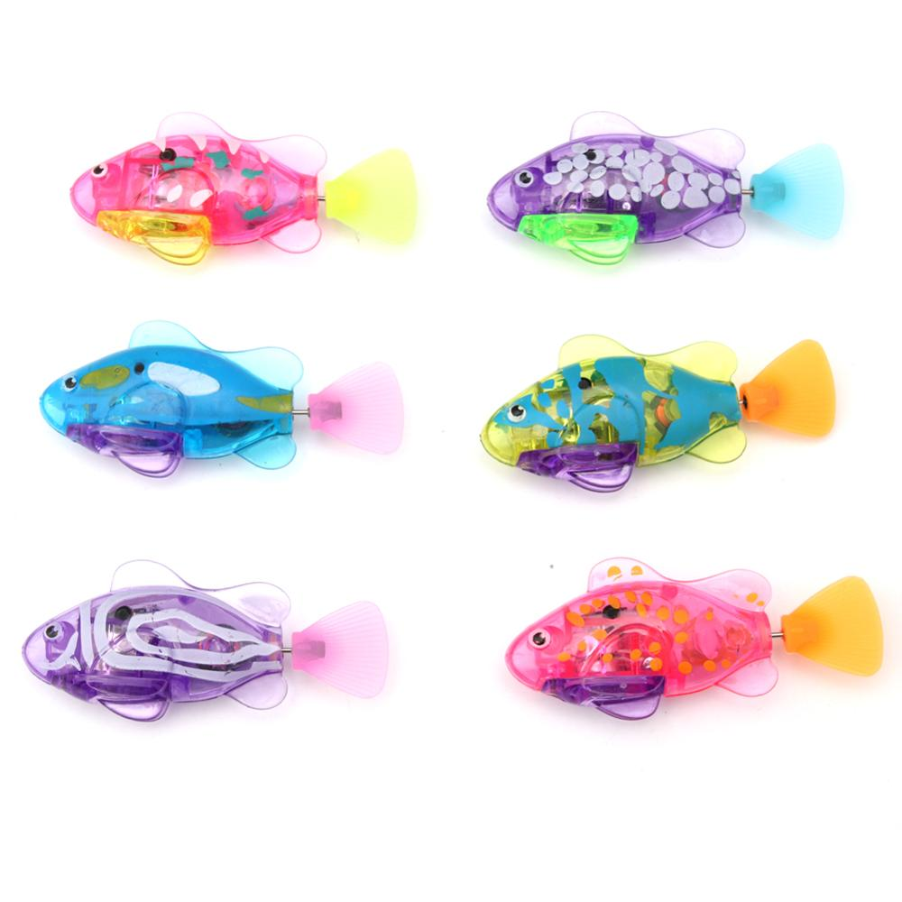 Funny Swim Electronic Swimming Fish Battery Powered Toy Pet For Fishing Children Gift Holiday Gift Toy Pet Baath Toy