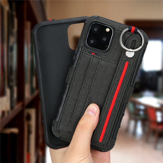 10pcs Card Slot PU Leather Phone Case for iPhone 11 Pro Max 7 8 6 6s plus XR Xs max X Soft Cover Shockproof Stand Holder 5