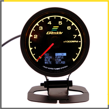 Racing Gauge GReddi Multi D/A LCD Digital Display Tachometer Car 2.5 Inch 62mm 7 Color in 1