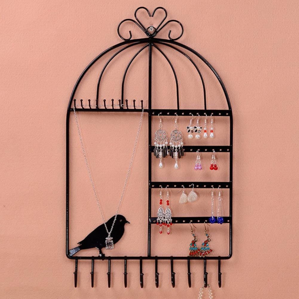 Birdcage Shape 20 Hook Jewelry Stand Rack Earrings Necklace Organizer Bracelet Display Holder Bijoux/joyeros Organizador De Joya