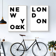 London City Poster Letter Print Wall Art Canvas Painting Nordic Decorative Picture Modern Home Decoration the morning of city london new york vintage poster art canvas painting wall picture print modern home room decoration unframed