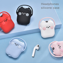 High Quality Small Cats Silicone Case Cartoon Wireless Bluetooth Headset for Airpod