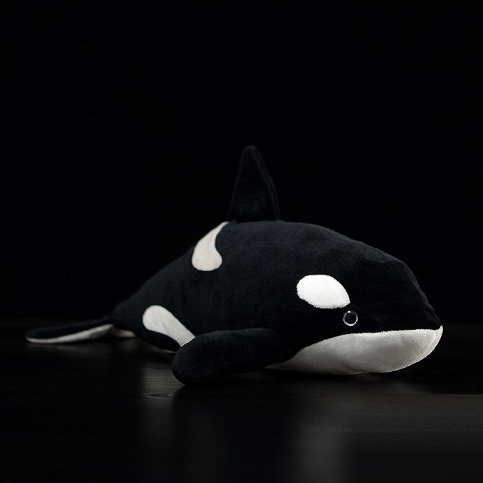 candice guo <font><b>plush</b></font> toy stuffed doll cartoon animal simulation Orcinus <font><b>orca</b></font> Killer <font><b>Whale</b></font> fish blackfish baby birthday gift 1pc image