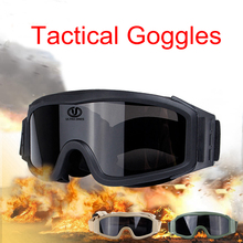 купить Tactical Military Goggles Comfort Airsoft Paintball Safety Eye Protection Glasses Anti-UV Hunting Army Combat Shooting Goggles дешево