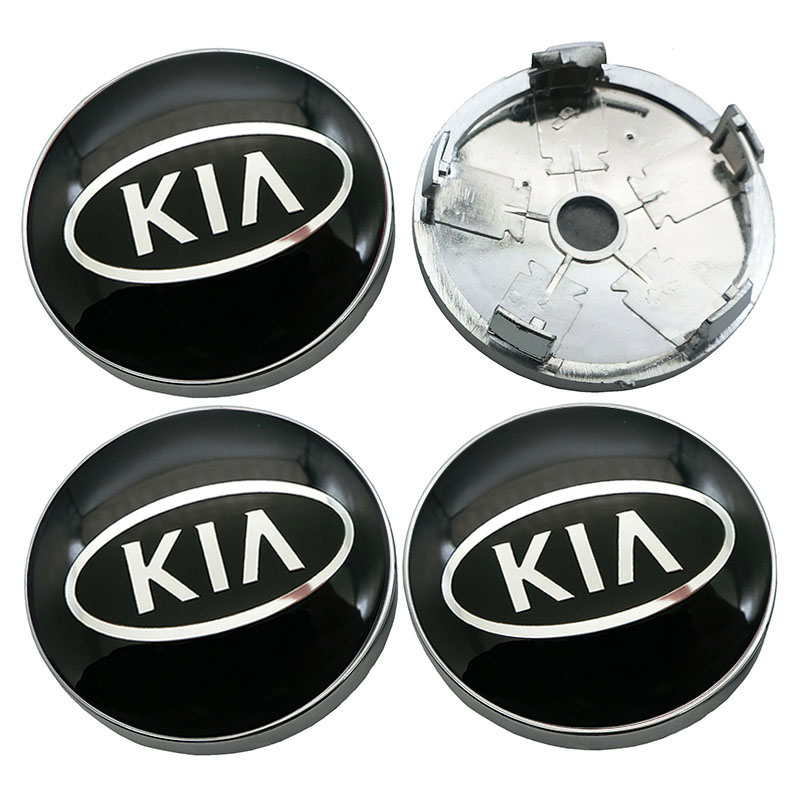 4 pcs Car Wheel Hub Centre Caps for KIA K2 K K3 K5 K9 Sorento Sportage Rio Soul Auto Logo Hub Caps Sunscreen Dust-Proof Waterproof Styling Accessories,56MM