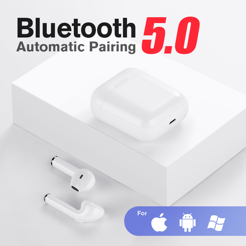 SANLEPUS <font><b>TWS</b></font> <font><b>Mini</b></font> <font><b>Wireless</b></font> <font><b>Bluetooth</b></font> <font><b>Earphone</b></font> Stereo Earbud Headset Headphones Mic For Iphone Xiaomi All <font><b>Smart</b></font> Phone i10 <font><b>i12</b></font> <font><b>5.0</b></font> image