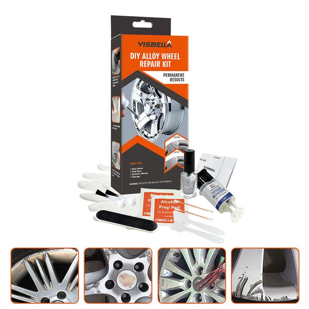 Kit de réparation de pneus voiture Tubeless usage général argent peinture Fix outil pour voiture Auto jante Dent égratignure soin accessoire moto outil