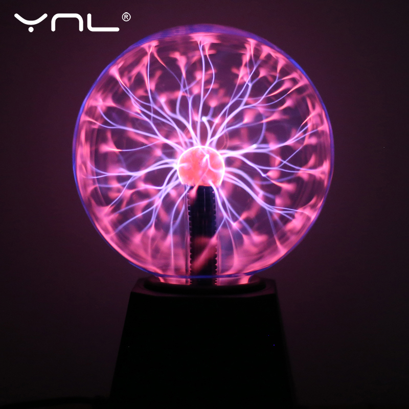 Novelty Glass Magic Plasma Ball Light Electric Lamp 220V 3 4 5 6 Inch Night Light Kids Gift Birthday Christmas Decor Plasma Lamp