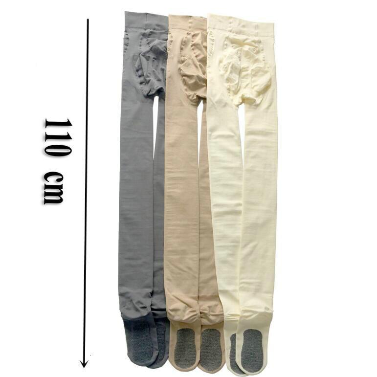 110cm Länge Große Mädchen Winter Einfarbig Dünne Warme Strümpfe Lange Strumpfhosen Schwarz Haut Farbe Frauen Strumpfhosen