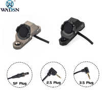 WADSN-Interruptor de botón caliente para pistola de Airsoft PEQ15, 16 DBAL-A2, láser, M300, M600, compatible con m-lok, riel Keymod