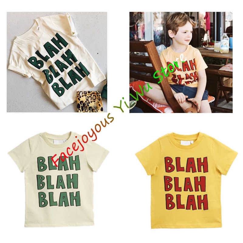 MR Boys & Girls Cartoon T-shirts Kids Letter Print T Shirt For Boys Children Summer Short Sleeve T-shirt Cotton Tops Clothing